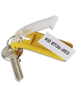 Sachet de 6 porte-clés Key Clip assortis - Durable