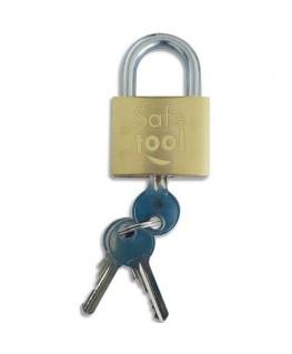 Cadenas de sécurite laiton monobloc pour exterieur - Safetool®