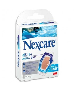 Boîte de 14 pansements en polyuréthane Aqua
