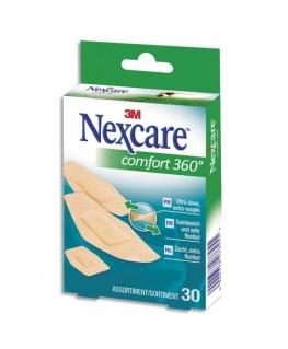 Boîte de 30 pansements Comfort 360 assortis micro-aéré - Nexcare by 3M