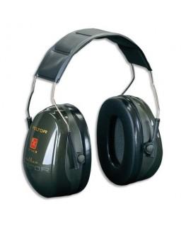 Casque anti-bruit Optime II serre-tête réglable coloris vert - Peltor® by 3M