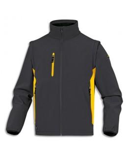Veste Mysen2 D-Mach Gris jaune polyester et élasthane