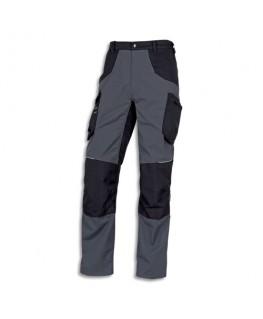 Pantalon Mach spirit Gris Noir en coton et polyester