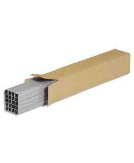 Caisse longue en carton brun simple cannelure