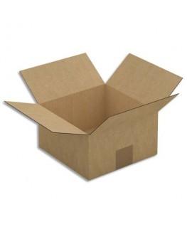Paquet de 25 caisses américaines en carton brun simple cannelure
