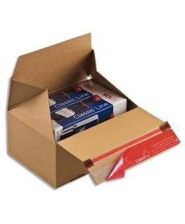 Carton d'expédition Eurobox S brun simple cannelure
