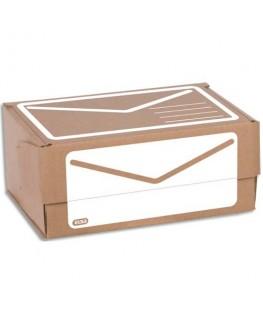 Boîte d'expédition en carton ondulé brun blanc