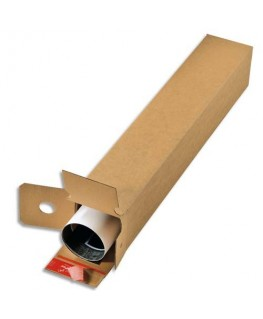 Boîte d'expédition Longue simple cannelure brun