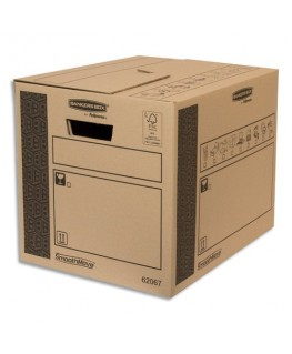 Caisse multi-usage 32 x 32 x 40 cm montage auto 100% recyclé et recyclable - Bankers Box® by Fellowes®