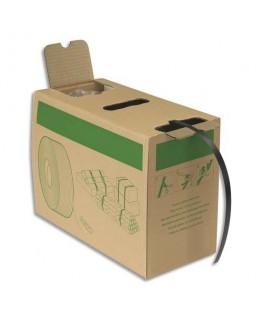 Kit de cerclage comprenant 1 ruban de cerclage noir 1.2 cm x 600 m + 200 boucles autobloquantes - Emballage