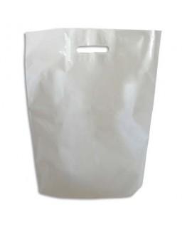 Paquet de 1000 sacs en plastique blanc 50 microns L35 x H45 x P5 cm - Emballage
