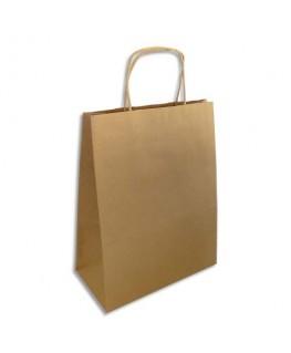 Paquet de 250 sacs en papier Kraft brun L24 x H31 x P12 cm - Emballage