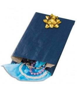 Paquet de 250 sachets kraft bleu 15 x 25 x 7 cm - Emballage