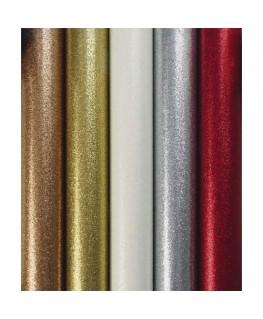 Rouleau de papier cadeau métallisé uni pailleté 70g