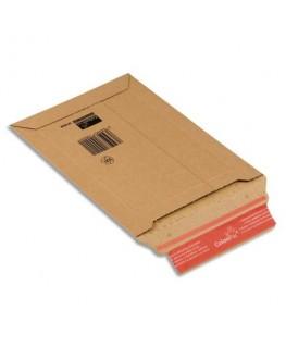 Pochette d'expédition rigide en carton brun