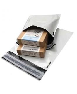 Boîte de 100 pochettes en polyéthylène opaque blanches indéchirables 60 microns