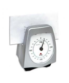 Pèse-lettres mécanique portée 1kg gris métal totale 15 x 18 x 13 cm