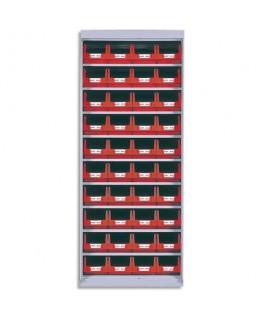 Armoire vide en métal pour rangement sans porte capacité 40 bacs à bec 4L - Viso