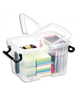 Boîte de rangement Smart Box Strata avec couvercle clipsé transparent 6L - CEP