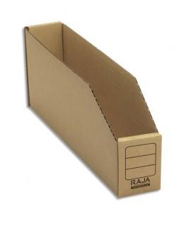 Paquet de 50 bacs à bec de stockage en carton brun 5.1 x 11.2 x 30.1 cm - Emballage