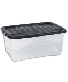 Boîte de rangement Strata avec couvercle cristal noir