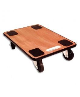 Plateau roulant bois à poignée charge maximale 300 kg - Safetool®