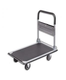 Chariot pliable Gris noir capacité 150 kg