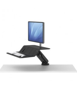 Station de travail assis-debout Lotus RT écran simple Noir - Fellowes®