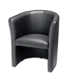 Chauffeuse Club Noire finition simili cuir