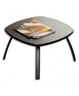Table basse carrée noire en bois