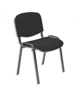 Chaise de conférence Iso Classic en tissu polyfibre noir