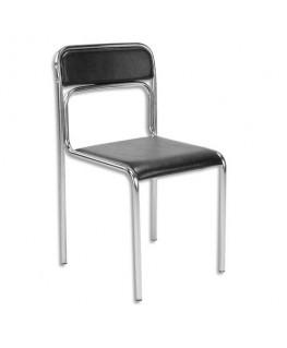 Chaise de conférence Ascona en simili cuir noire