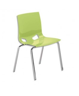 Chaise Swity en polypropylène aspect Glossy vert anis