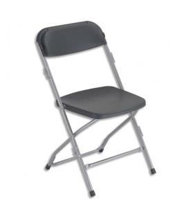 Chaise Polyfold pliante en plastique noire