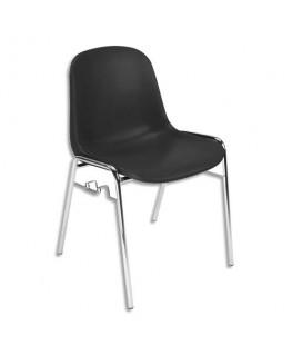 Chaise coque noire Didiplast avec accroche