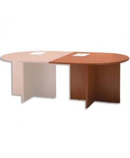Module 1/2 rond pour table réunion merisier