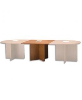 Module rectangulaire pour table réunion merisier