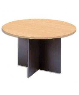 Table ronde de réunion diamètre 126 cm piètements panneaux en croix - MT International