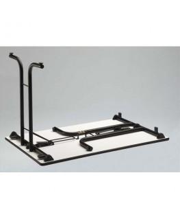 Table polyvalente pliante rectangulaire 120 x 70 cm gris/gris - Sodematub