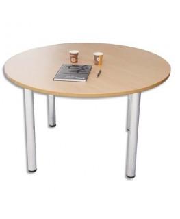 Table ronde diamètre 120 cm 4 pieds alu - Sodematub