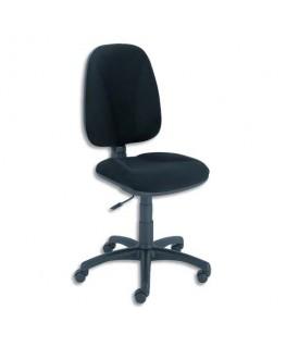 Chaise dactylo bureautique contact permanent ERGO LIGN tissu noir dossier 50 cm