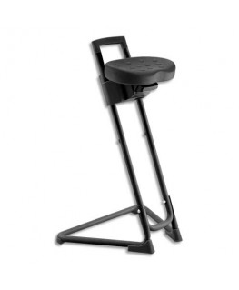 Siège technique assis-debout en polyuréthane Noir