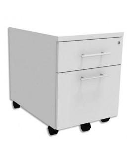 Caisson mobile 2 tiroirs dont 1 pour dossiers suspendus + plumier EXPRIM