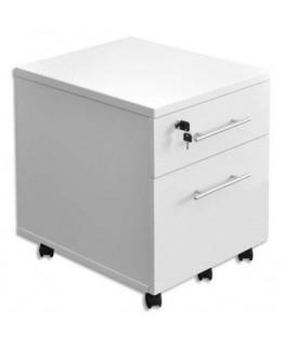 Caisson mobile 2 tiroirs MT1 élégance coloris blanc
