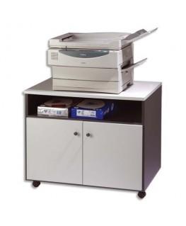 Meuble photocopieur 2 portes + tablette et niche