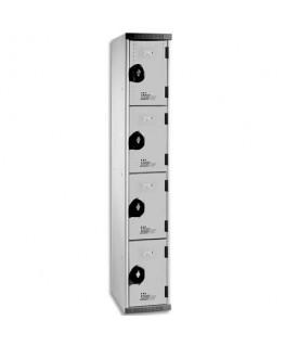 Multicasiers Optimum 4 portes en acier 40 x 180 x 50 cm gris - Acial