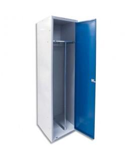 Vestiaire atelier Industrie salissante Initial 2 compartiments corps gris porte bleue - Acial