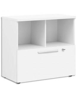 Rangement bas 2 cases 1 tiroir Yes façade et dessus Blanc L80 x H74 x P42 cm - Gautier Office