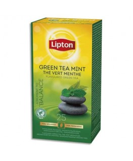 Boîte de 25 sachets de thé vert menthe - Lipton