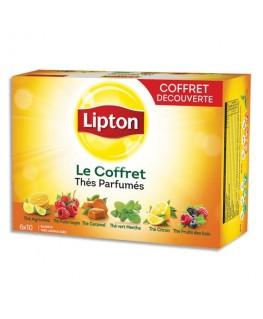Coffret de 60 sachets de thés parfumés assortis - Lipton